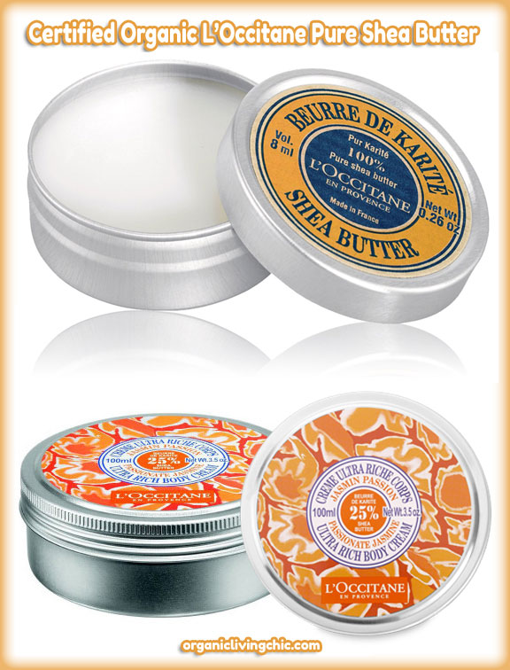 Certified Organic L'Occitane Pure Shea Butter, l occitane shea butter, pure shea butter, loccitane shea butter, shea moisture, shea tree, shea nut,  organic living, organic living chic, l'occitane reviews, Shea Butter Jasmine Ultra Rich Body Cream