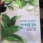 Nature Republic's Real Nature Mask Sheet (Green Tea) Review